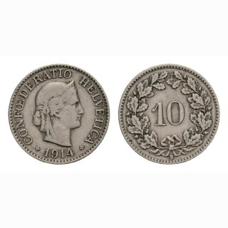 10 Rappen 1914 Schweiz