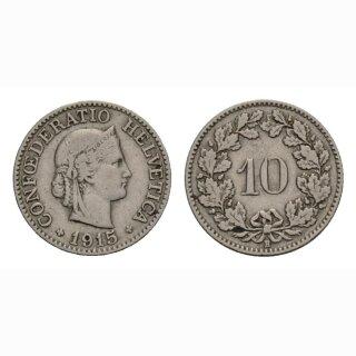 10 Rappen 1915 Schweiz