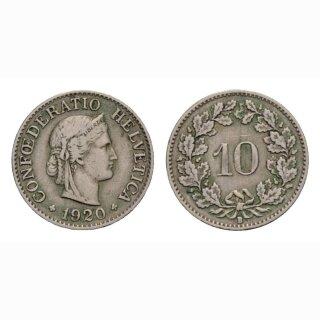 10 Rappen 1920 Schweiz