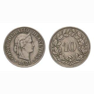 10 Rappen 1921 Schweiz