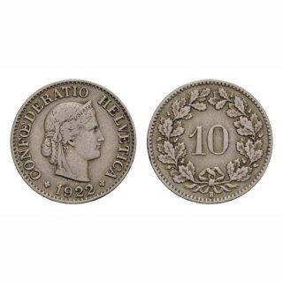 10 Rappen 1922 Schweiz