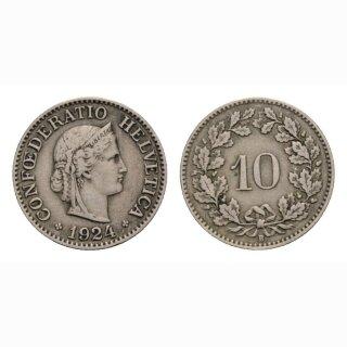 10 Rappen 1924 Schweiz