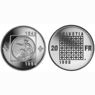 Schweiz 20 Franken 1998 B 150 Jahre CH-Bundesstaat