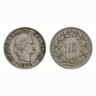10 Rappen 1925 Schweiz