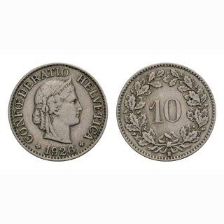 10 Rappen 1926 Schweiz