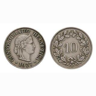 10 Rappen 1927 Schweiz