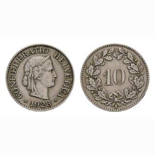 10 Rappen 1928 Schweiz