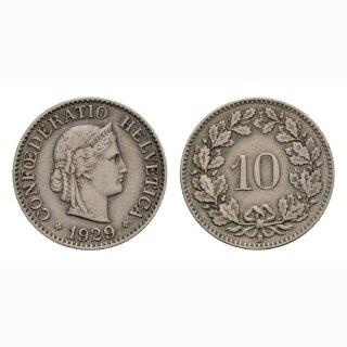 10 Rappen 1929 Schweiz