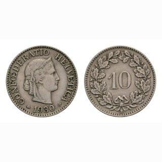 10 Rappen 1930 Schweiz
