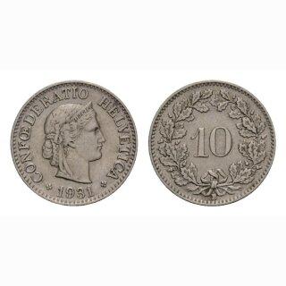10 Rappen 1931 Schweiz