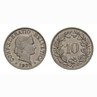 10 Rappen 1932 Schweiz