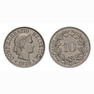 10 Rappen 1933 Schweiz