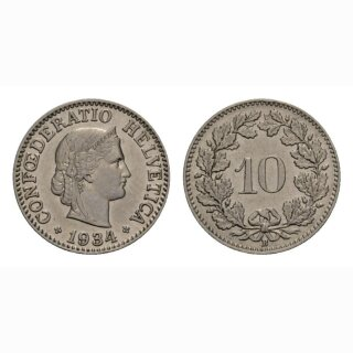 10 Rappen 1934 Schweiz