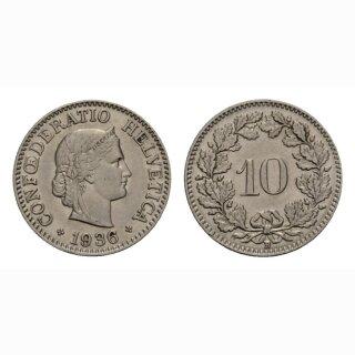 10 Rappen 1936 Schweiz