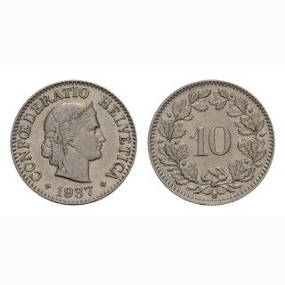 10 Rappen 1937 Schweiz