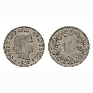 10 Rappen 1938 Schweiz