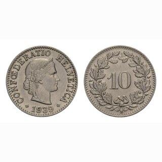 10 Rappen 1939 Schweiz