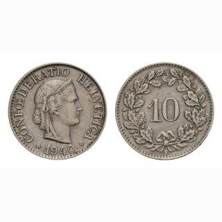 10 Rappen 1940 Schweiz