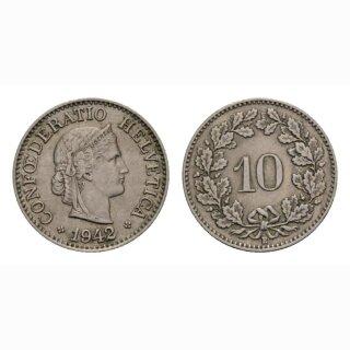 10 Rappen 1942 Schweiz