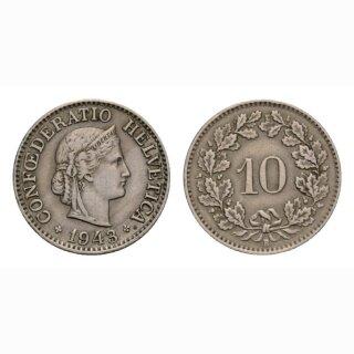 10 Rappen 1943 Schweiz