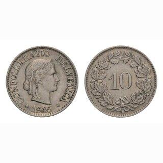 10 Rappen 1945 Schweiz