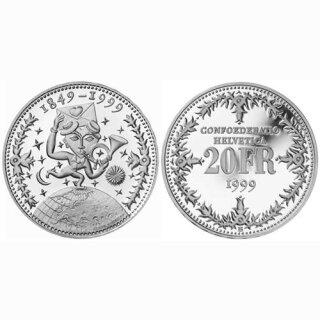 Schweiz 20 Franken 1999 B 150 Jahre Post