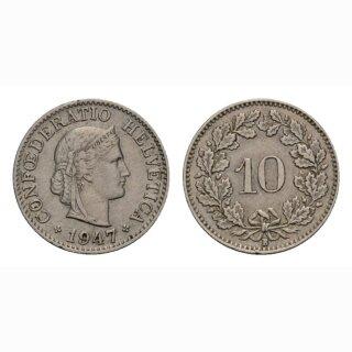 10 Rappen 1947 Schweiz
