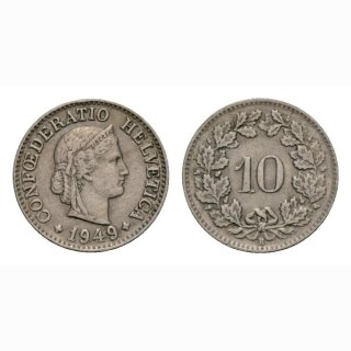 10 Rappen 1949 Schweiz