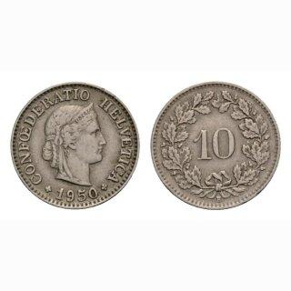 10 Rappen 1950 Schweiz