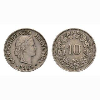 10 Rappen 1953 Schweiz