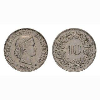 10 Rappen 1954 Schweiz