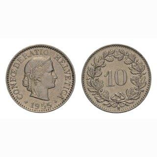 10 Rappen 1955 Schweiz