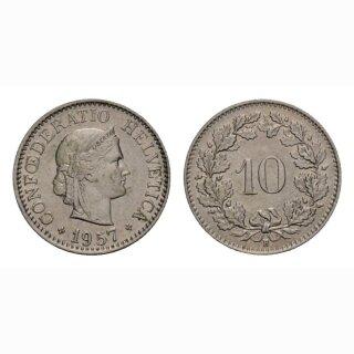 10 Rappen 1957 Schweiz