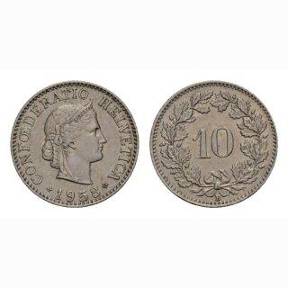 10 Rappen 1958 Schweiz