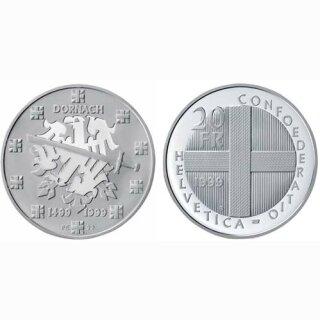 Schweiz 20 Franken 1999 B Schlacht bei Dornach