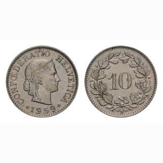 10 Rappen 1959 Schweiz