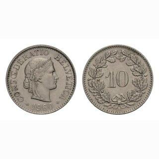 10 Rappen 1960 Schweiz