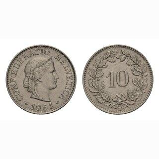 10 Rappen 1961 Schweiz