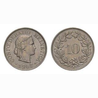 10 Rappen 1962 Schweiz