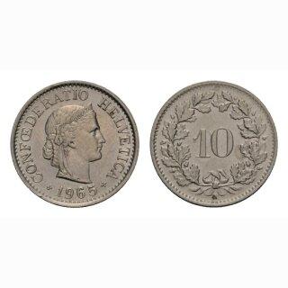 10 Rappen 1965 Schweiz