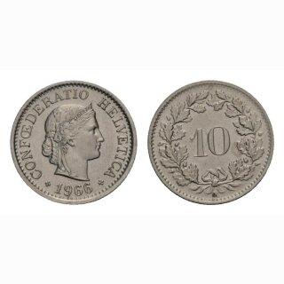 10 Rappen 1966 Schweiz