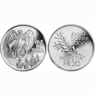 Schweiz 20 Franken 2000 B Pax in Terra