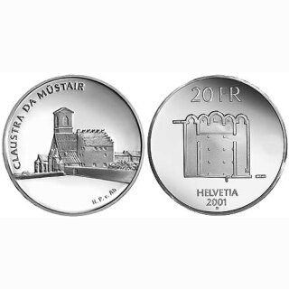 Schweiz 20 Franken 2001 B Kloster Müstair