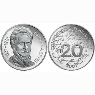 Schweiz 20 Franken 2001 B Johanna Spyri