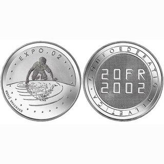 Schweiz 20 Franken 2002 B Expo 02