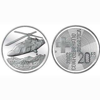 Schweiz 20 Franken 2002 B Rega