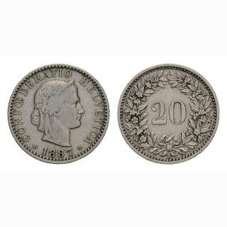 20 Rappen 1887 Schweiz