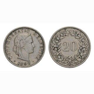 20 Rappen 1898 Schweiz