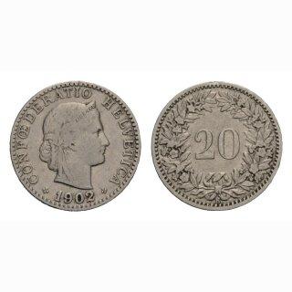 20 Rappen 1902 Schweiz