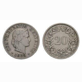 20 Rappen 1903 Schweiz